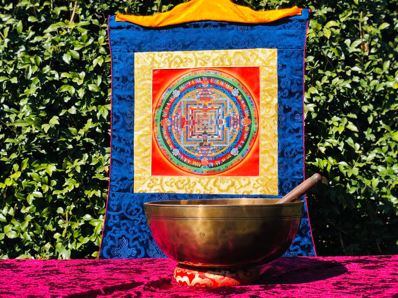 Full Moon Energy Singing Bowl || Double Hammered Bowl specially for Therapy Use -  Best Thangka & Singing Bowl