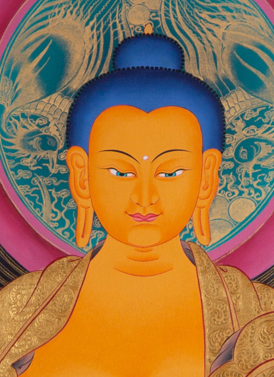 Shakyamuni Buddha Thangka Painting || The Awakened One with 5 Dhyani Buddha