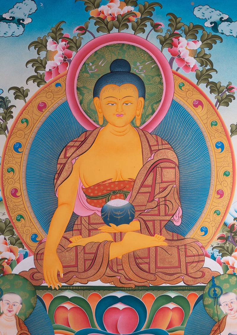 Shakyamuni Buddha Large size Thangka painting | Wall Hanging Tibetan Art -  Best Thangka & Singing Bowl