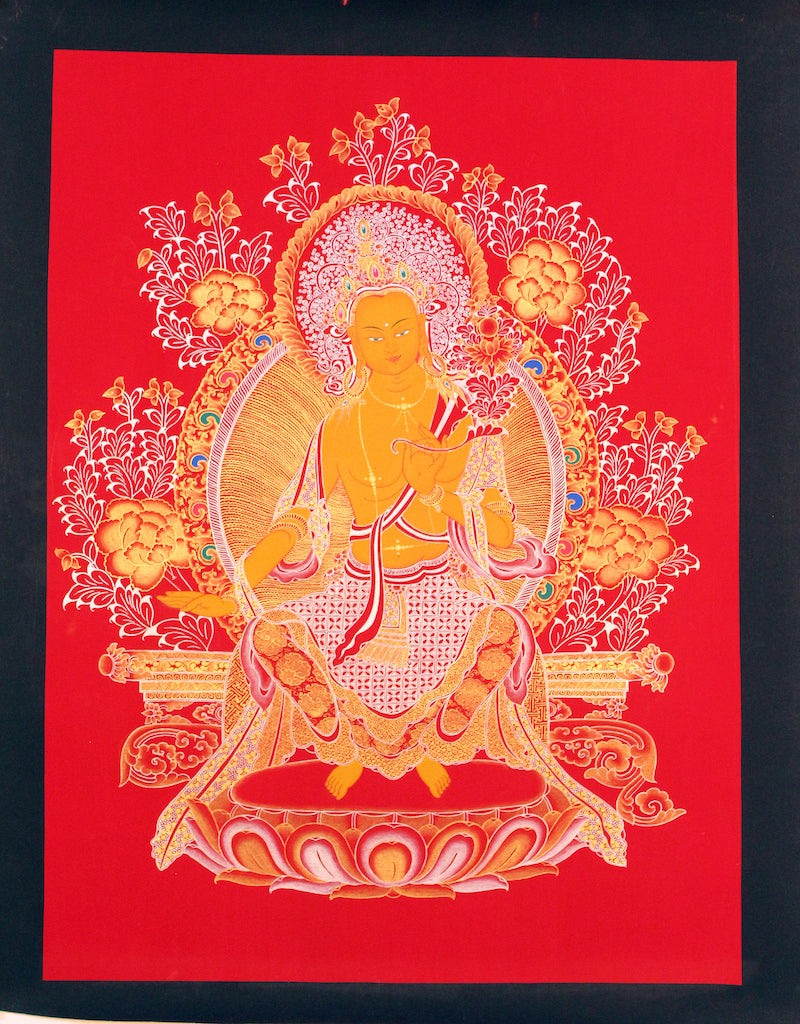 Maitrya Buddha -  Best Thangka & Singing Bowl