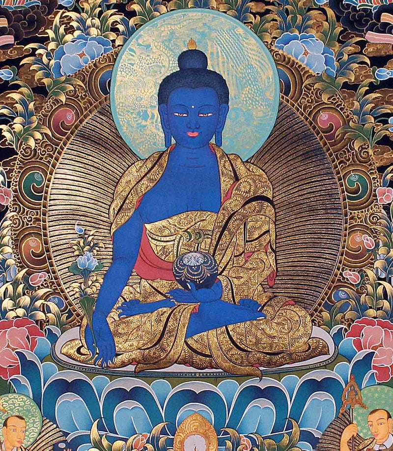 Medicine Buddha -  Best Thangka & Singing Bowl