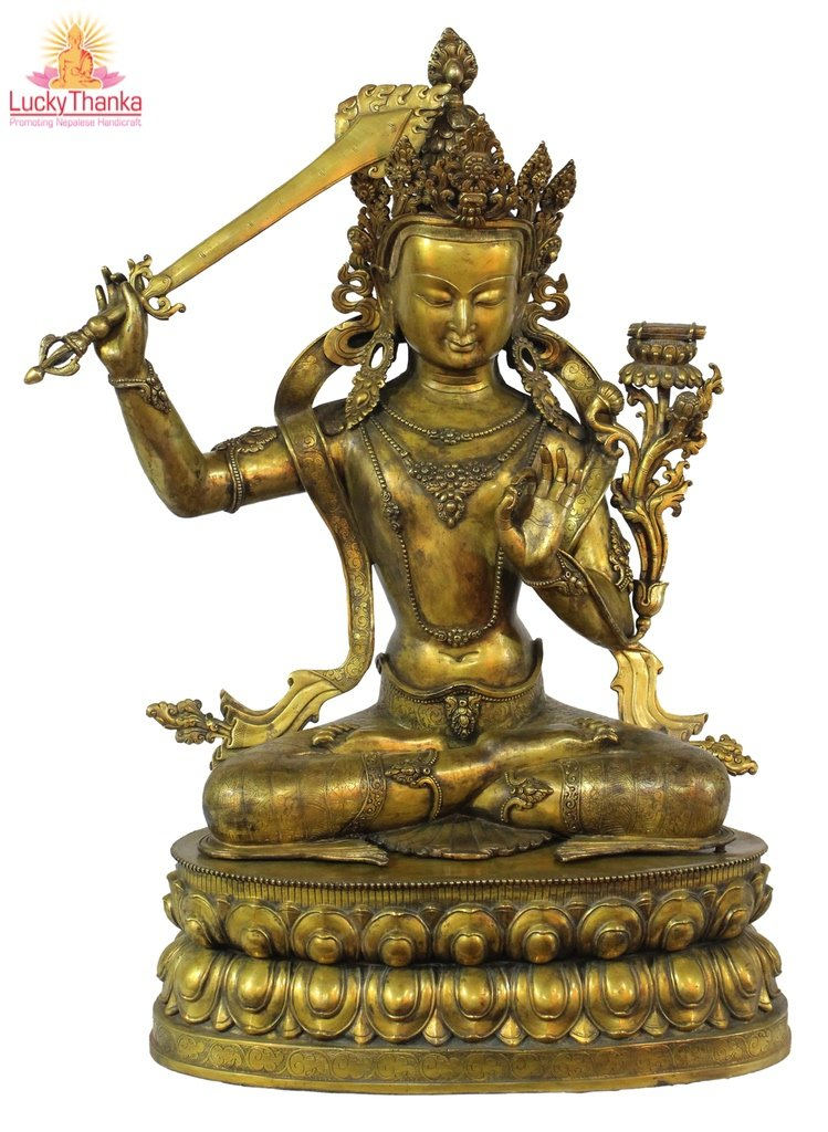 Manjushri -  Best Thangka & Singing Bowl