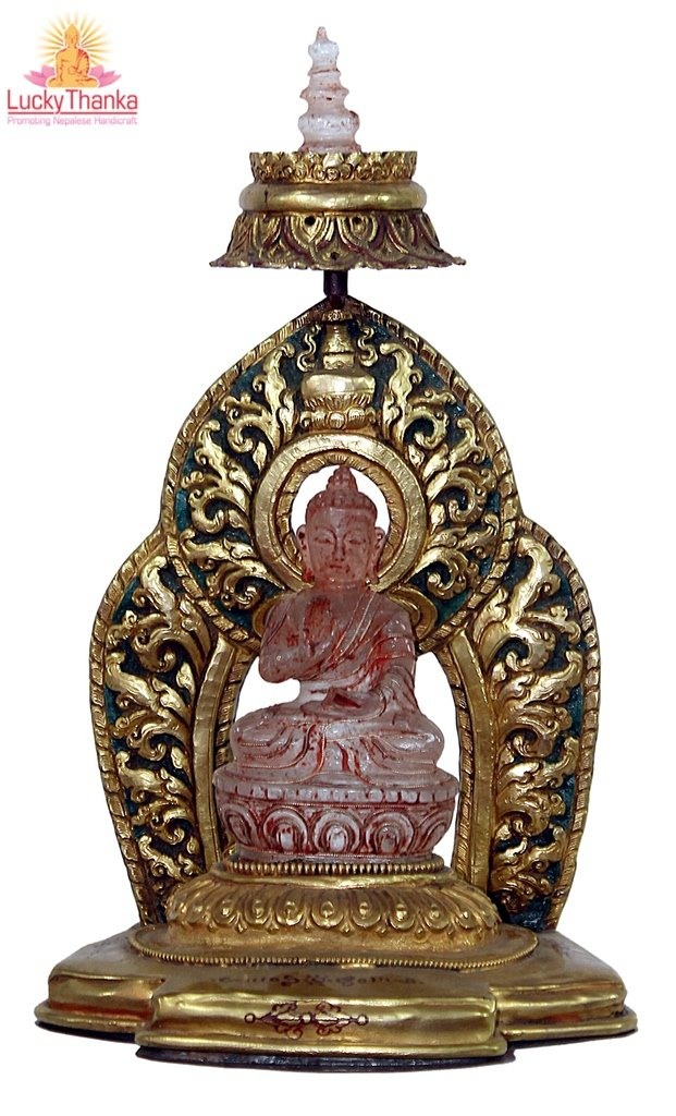 Crystal Buddha -  Best Thangka & Singing Bowl