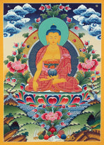 Shakyamuni Buddha -  Best Thangka & Singing Bowl