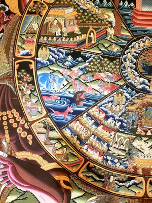 Wheel Of Life -  Best Thangka & Singing Bowl