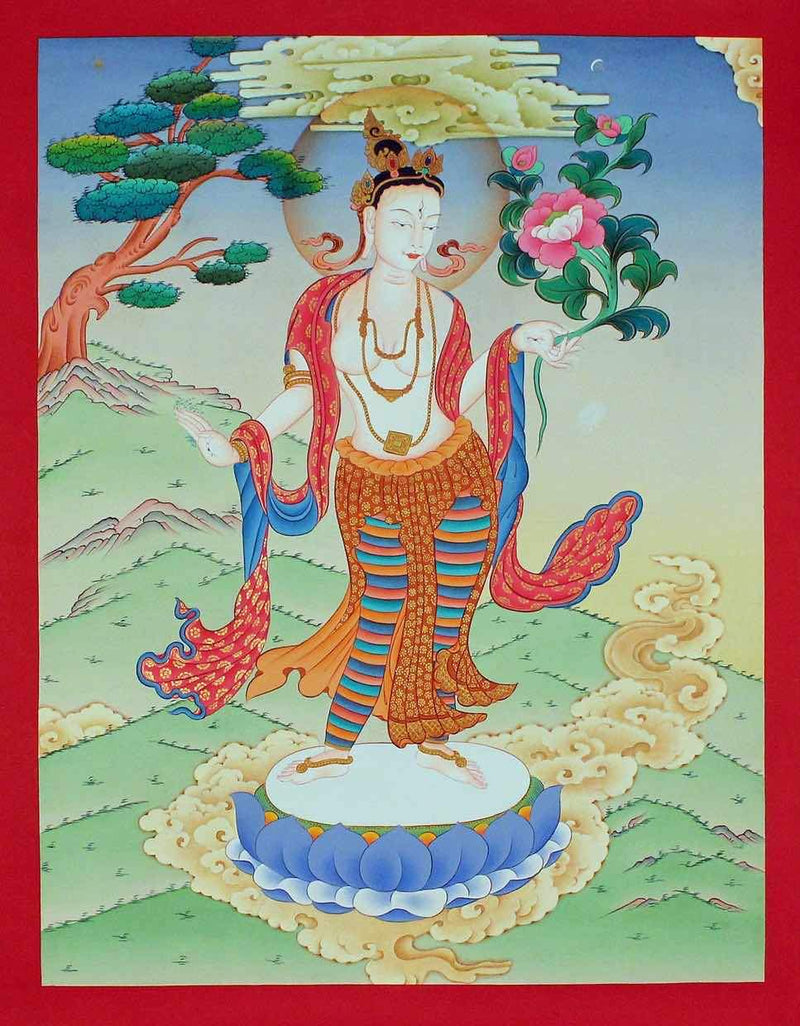 White Tara -  Best Thangka & Singing Bowl
