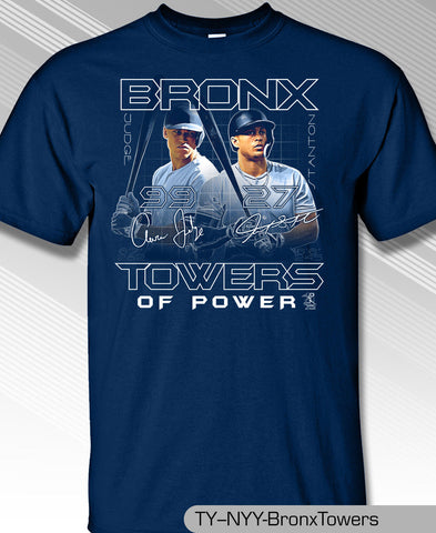 Yankees Aaron Judge and Giancarlo Stanton New York's Bronx Towers Shirt