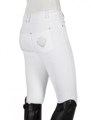 "PFIFF Full Seat Breeches ""Julie' - White"