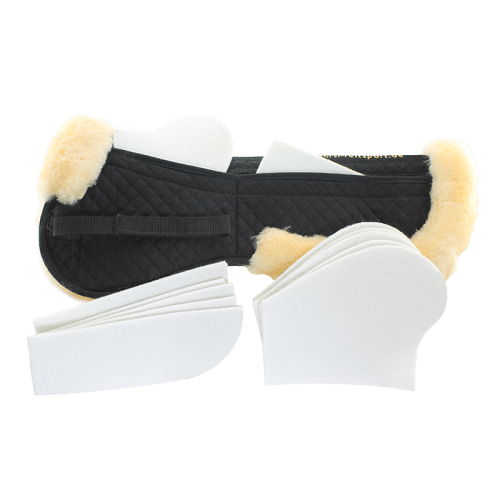 Sheepskin Back Pad with Pockets & Felt Inserts