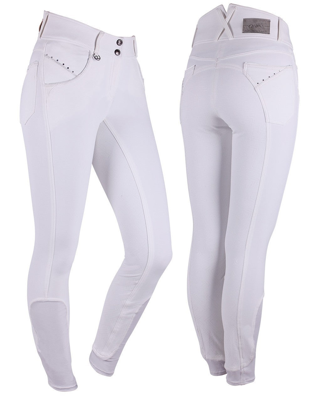 Competition Breeches Noa Anti-Slip Full Seat - White