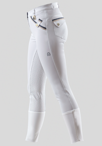 Competition Coco Ladies Gel Breeches - White