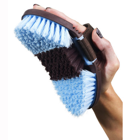 Flexible Tri Coloured Body Brush