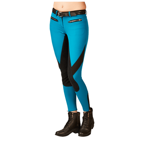 Full Seat, Two Toned, Woven Breeches