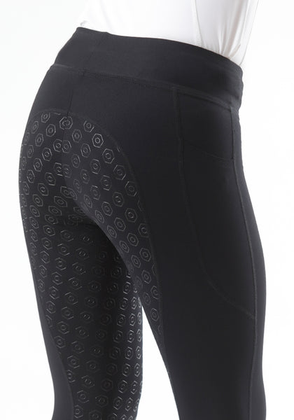 PE Sport Lia Pull-On Gel Riding Tights - UK Size 10 Only