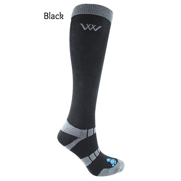 Waffle Knit Bamboo Long Riding Socks (2 Pairs Per Pack)