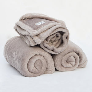 Coral Fleece Blanket - Small / Mocha only left !