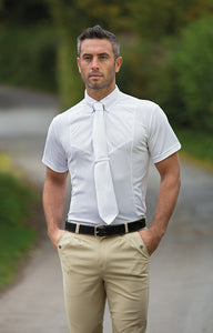 Gents Short Sleeve Tie Shirt