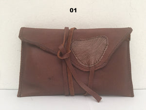 All Purpose Pouch With Leather Drawstring