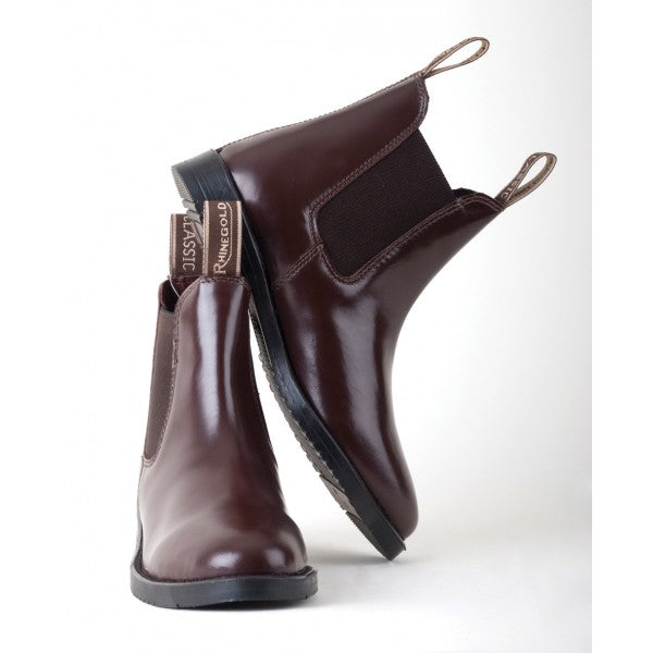 Rhinegold Childrens Classic Leather Jodhpur Boots