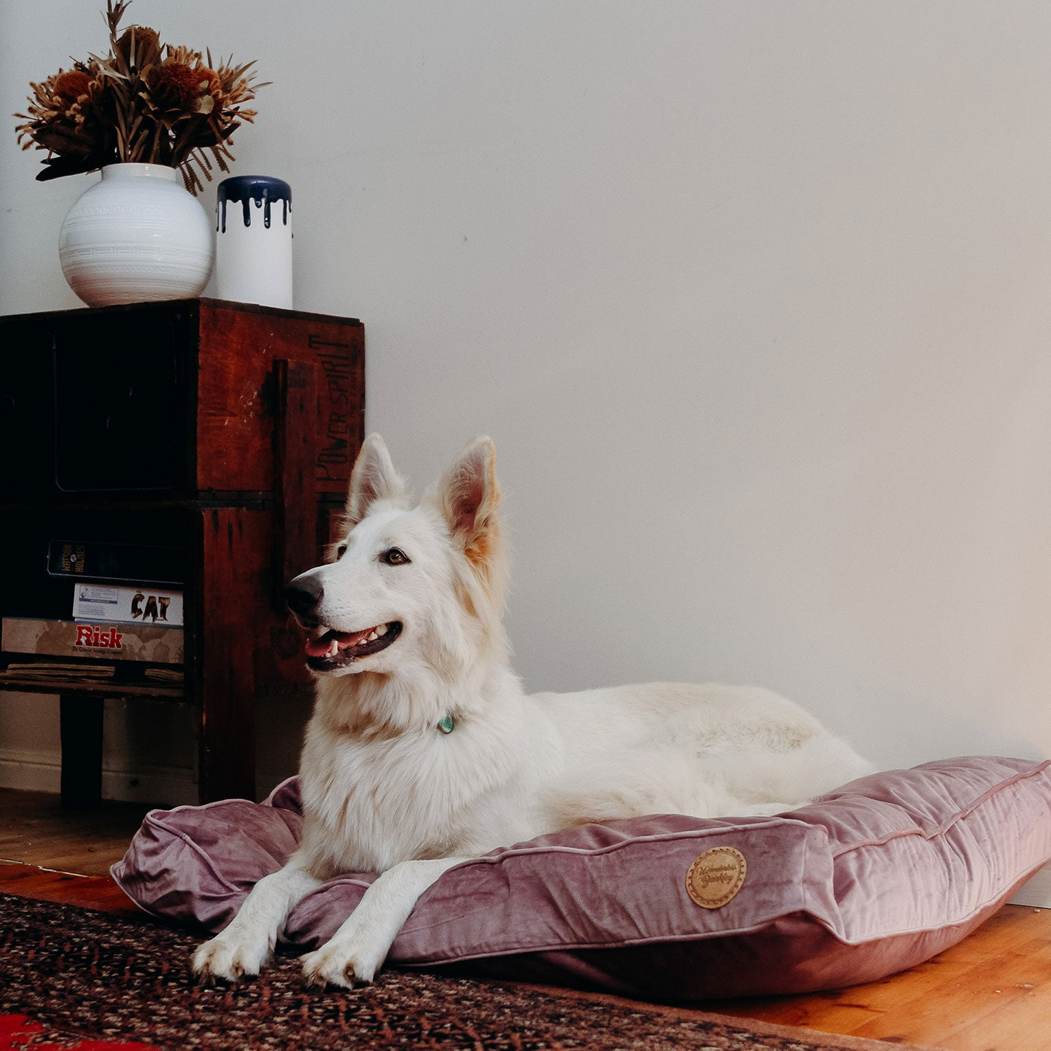 Seconds: Lilac - Velvet Spread Dog Bed (Medium)