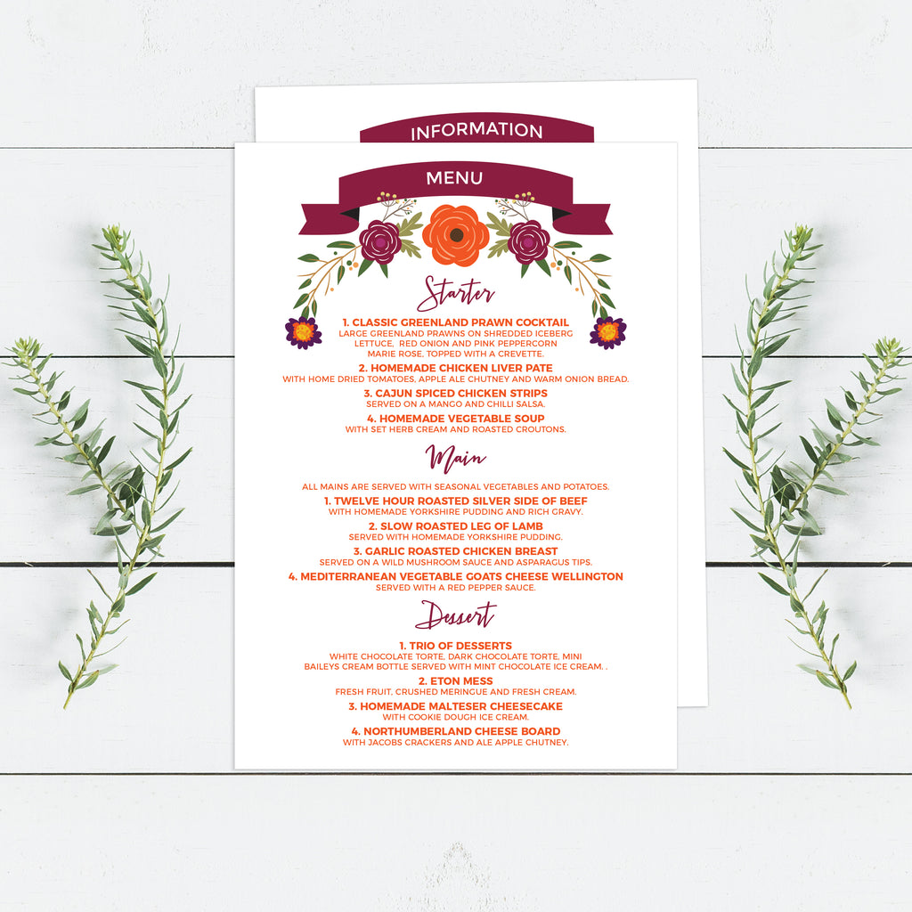Autumnal Wedding Invitations