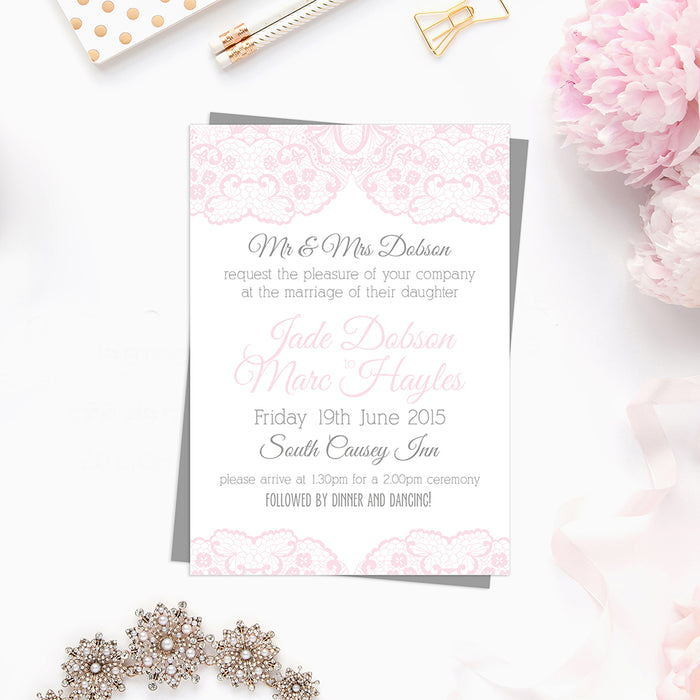 Butterfly & Lace Wedding Invitations