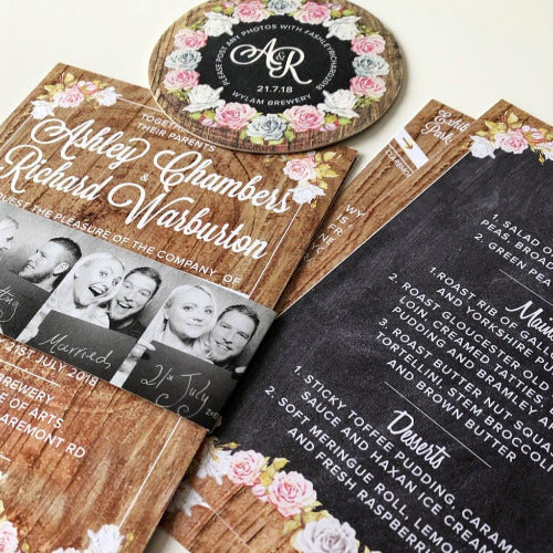 BEERMAT WEDDING INVITATION