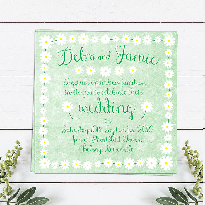 Daisy Chain Wedding Invitations