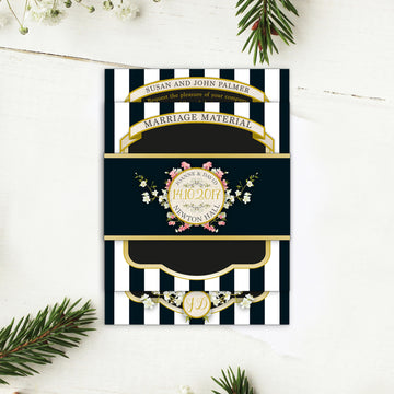 Striped Wedding Invitations