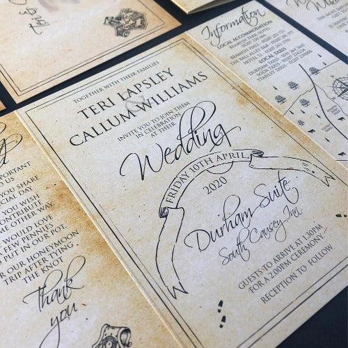 marauders map wedding invitations