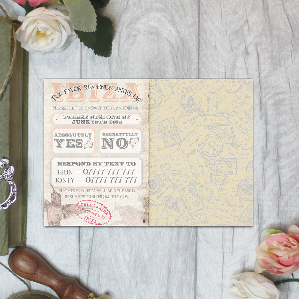 DESTINATION BOOKLET WEDDING INVITATION