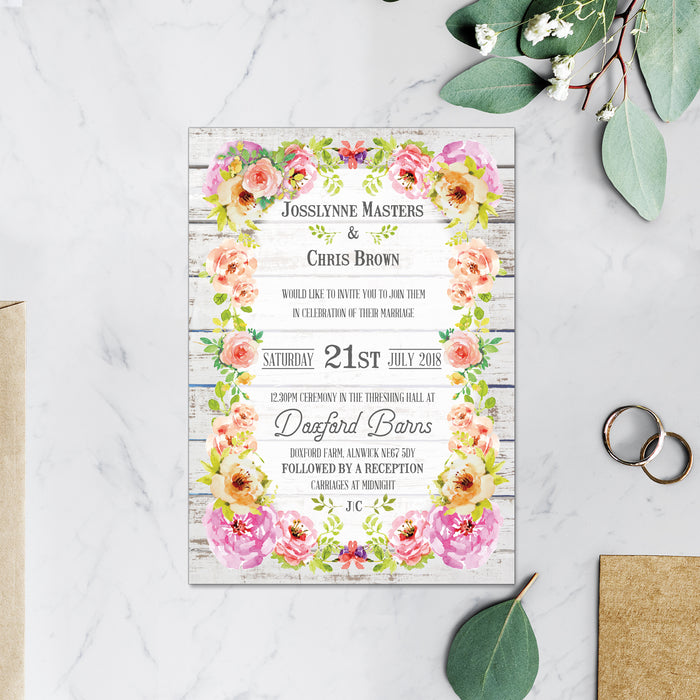VIBRANT SUMMER WEDDING INVITATIONS
