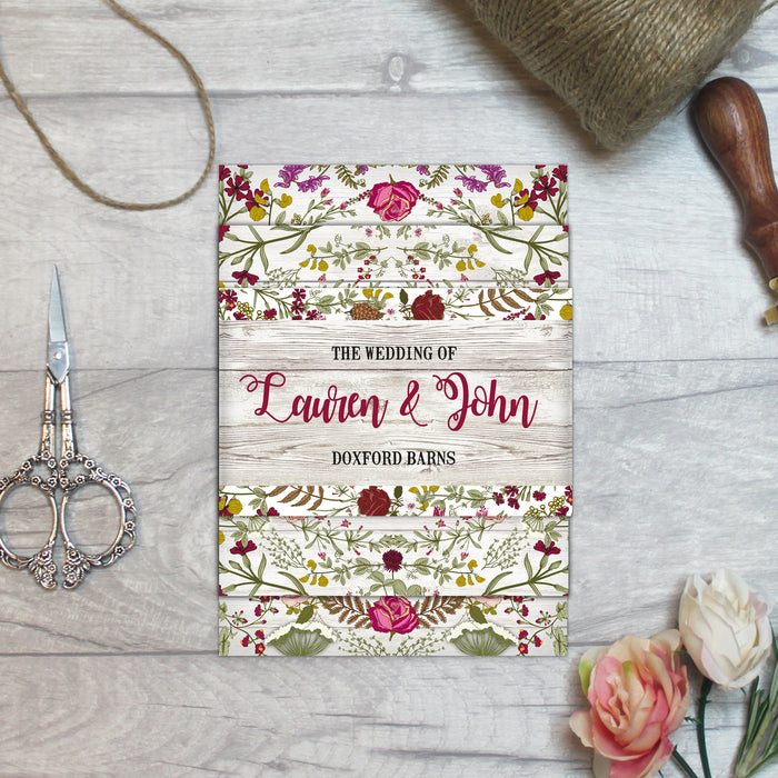 WILD BOHO WEDDING INVITATIONS
