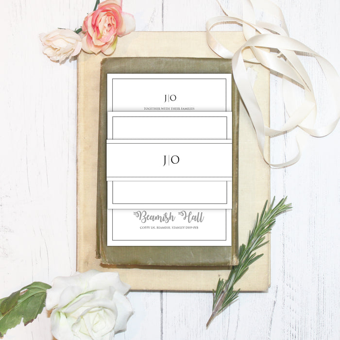 SIMPLICITY IS KEY WEDDING INVITATIONS