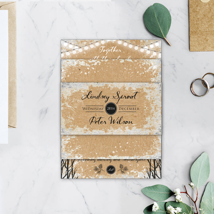 WInter Kraft Wedding Invitations