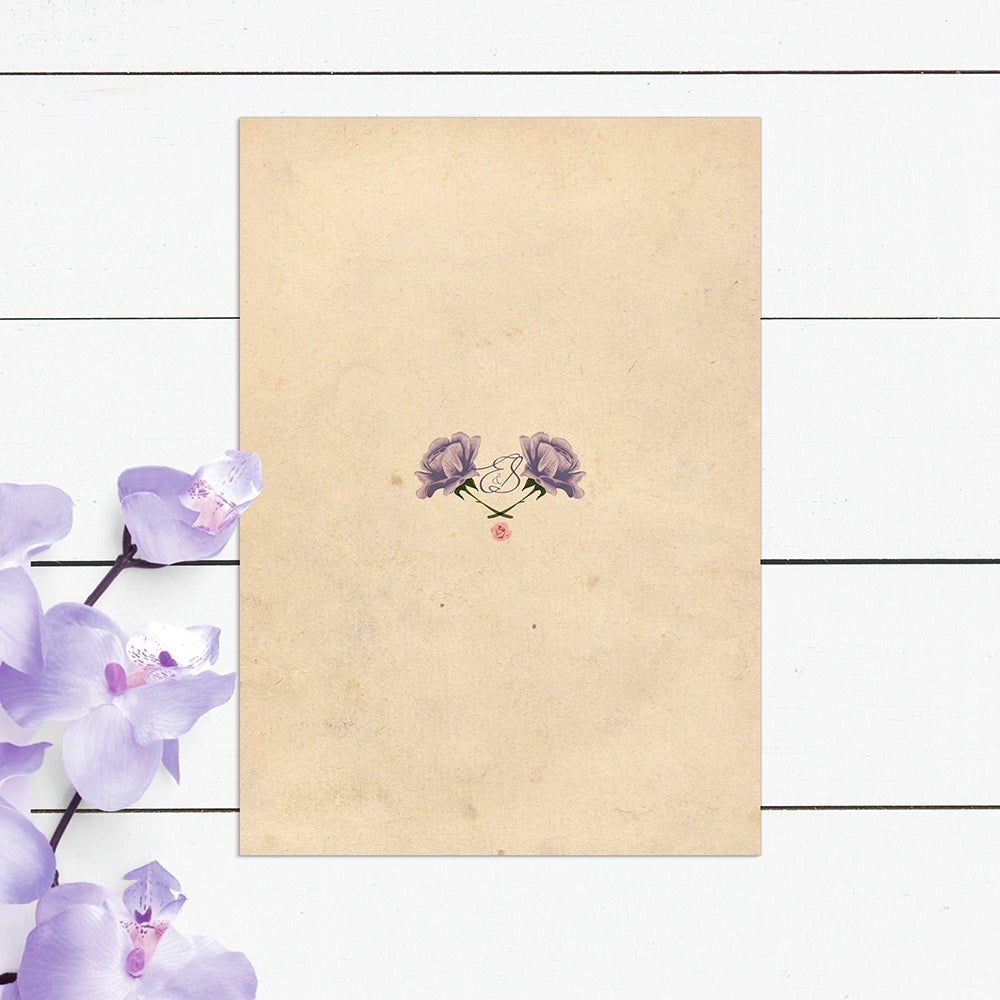 Peony and Parchment Wedding Invitations