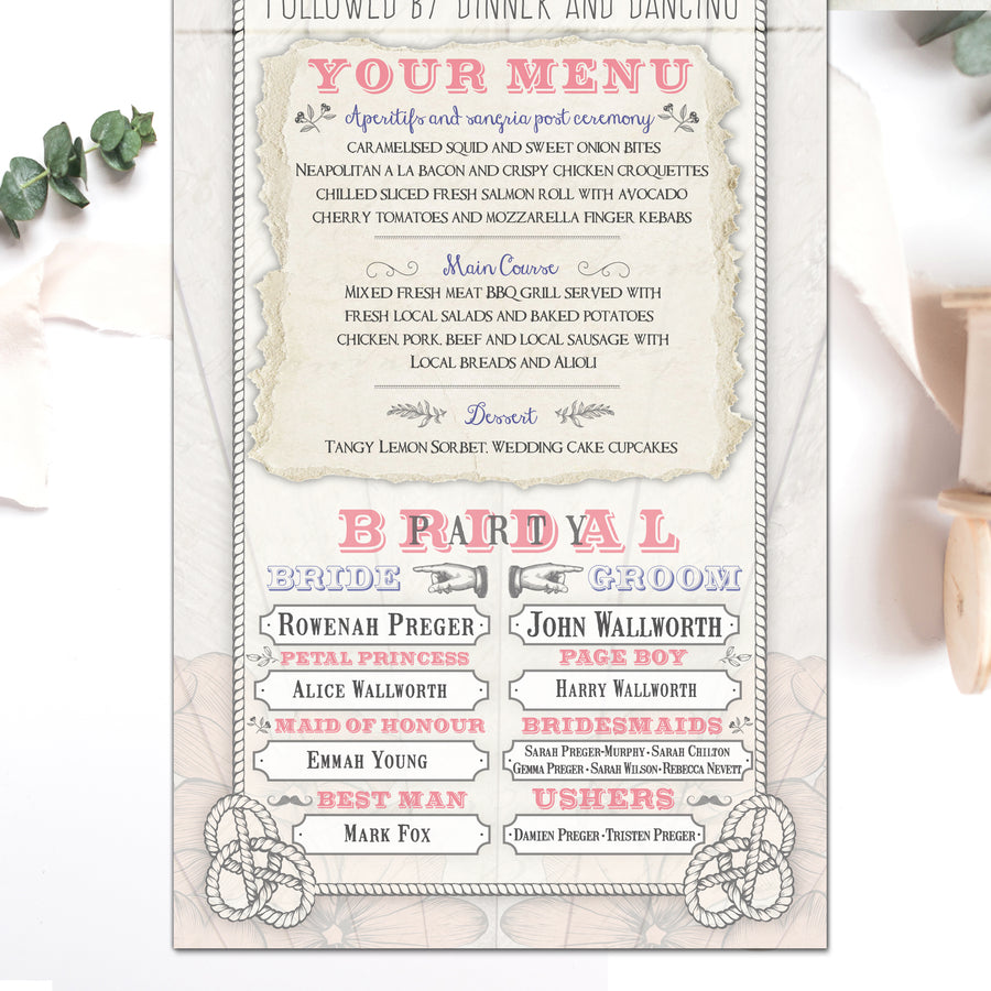 DESTINATION CONCERTINA WEDDING INVITATION