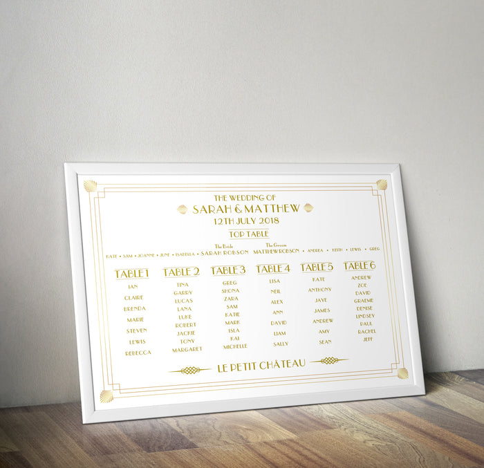 DECO STYLE TABLE PLAN