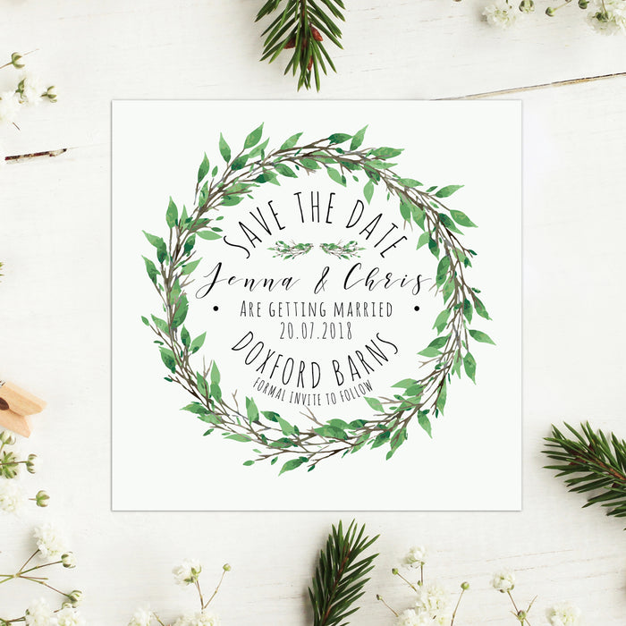 Woodland Wreath Save the Date