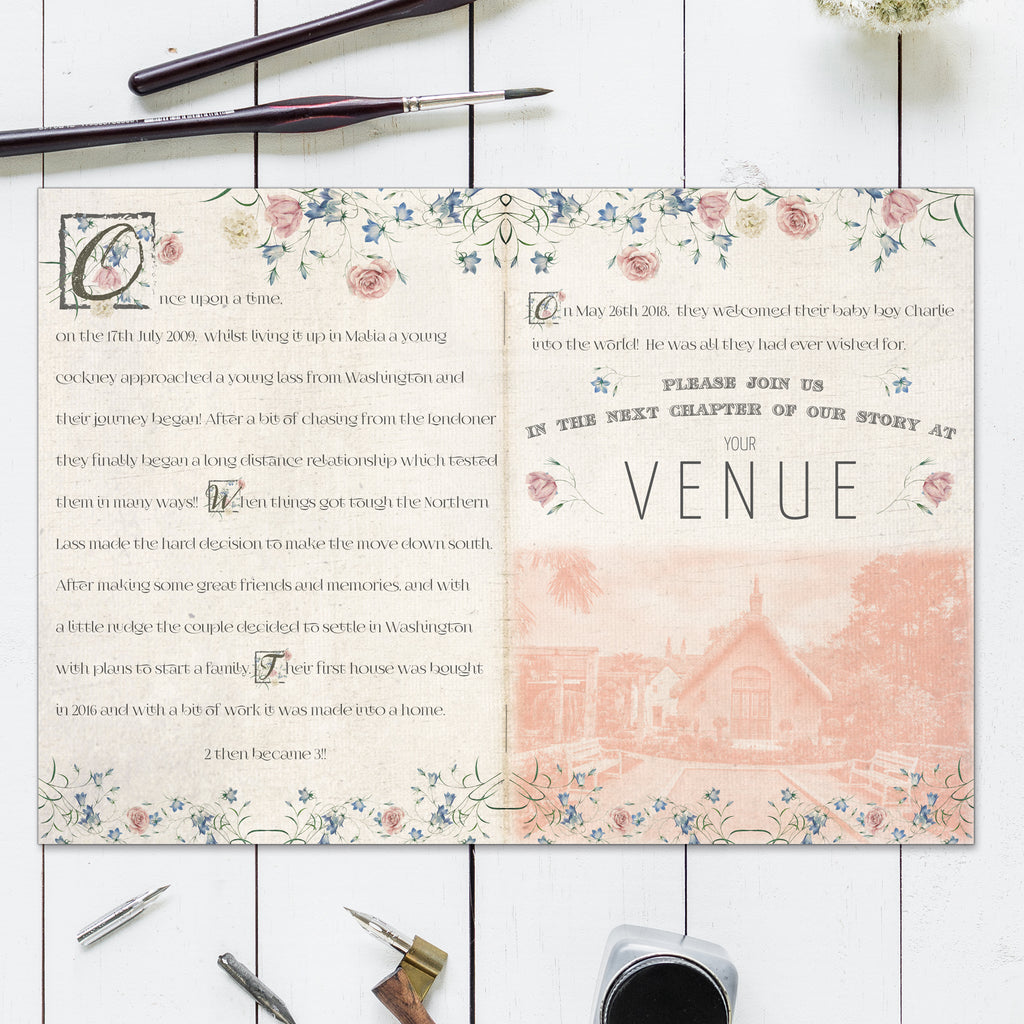 FAIRY TALE BOOKLET INVITATIONS