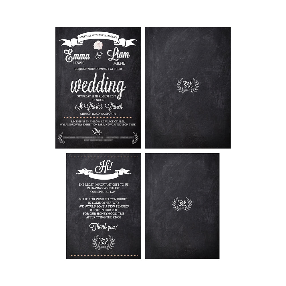 The Brewery Chalkboard Wedding Invitations