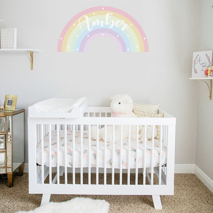 Rainbow Name Wall Vinyl Sticker