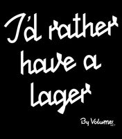 I'D RATHER HAVE A LAGER SHOPPING BAG - BLACK