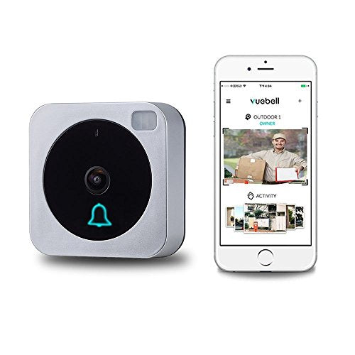 VueBell WiFi Video Doorbell With Bonus Indoor Wireless Chime