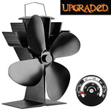 Silent Operation 4-Blade Heat Powered Stove Fan for Wood