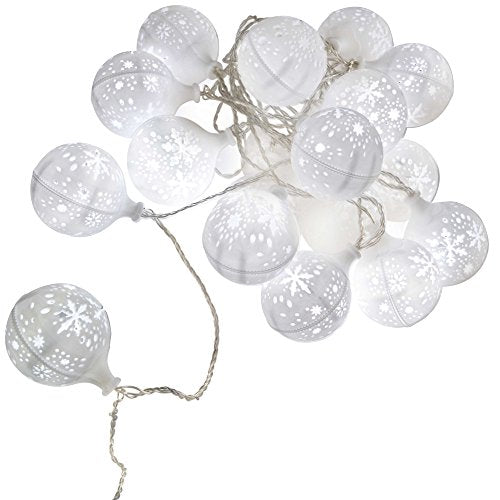 WeRChristmas LED Light Balls with Christmas Snowflakes Decoration