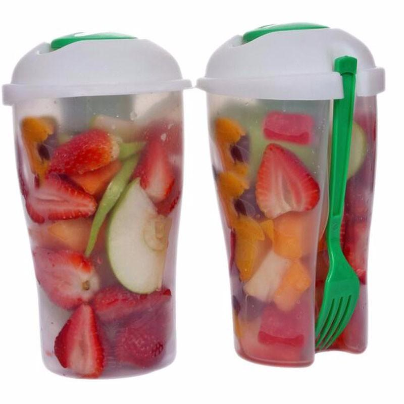 Fresh Salad On-the-Go Cup Shaker with Fork