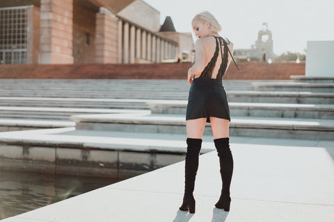 Street style lace and leather styling by Lazy Girl Lingerie