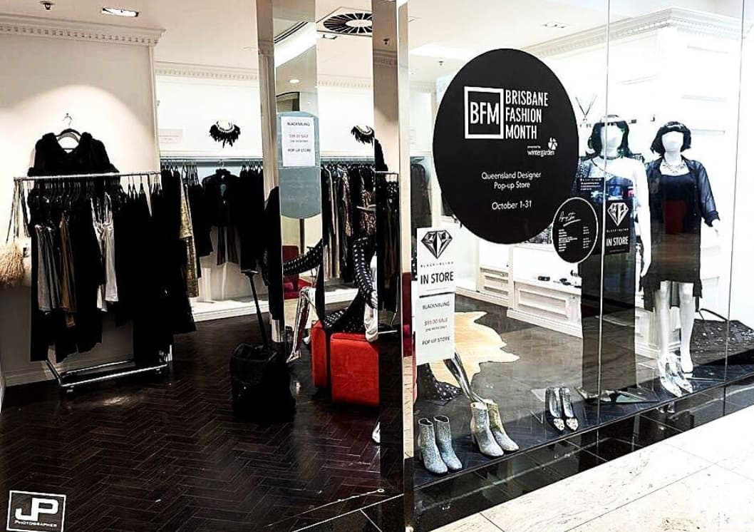 Brisbane Fashion Month Pop Up Store Lazy girl lingerie and missy noir