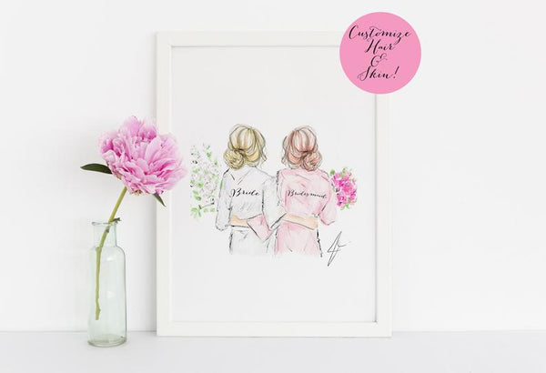 gifts for your bridesmaid custom illustration